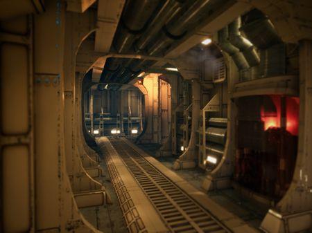Science fiction corridor