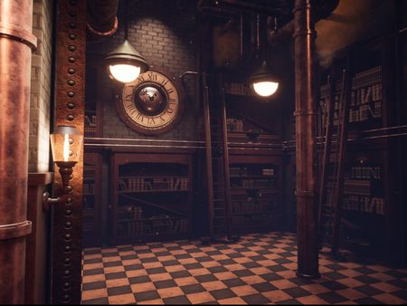 Steampunk Library - Environment Project (WIP)