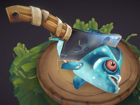 Handpainted Prehistoric Fish