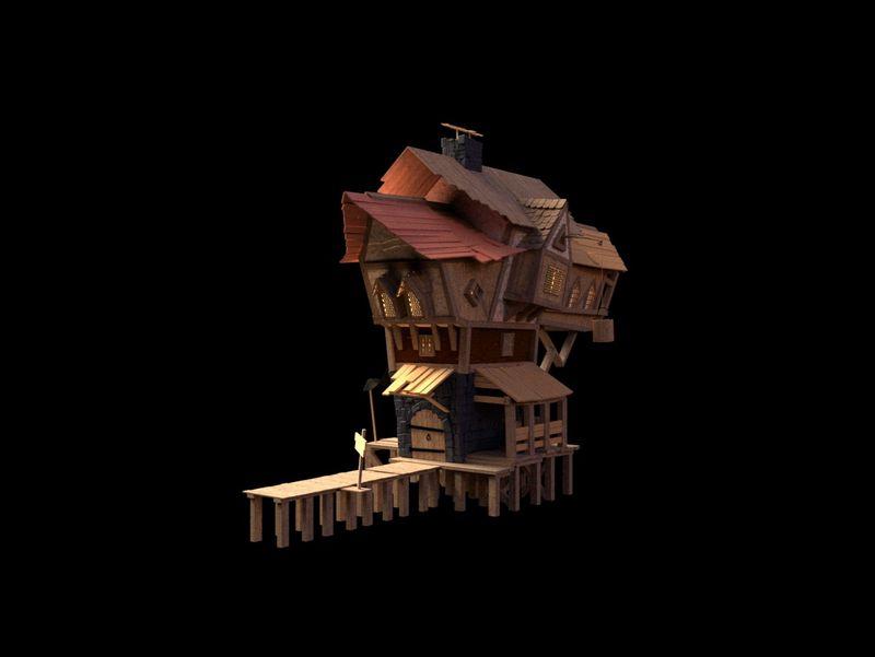 Medieval Fantasy House (Maya)