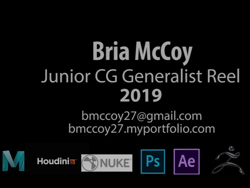 Bria McCoy Junior Generalist Reel 2019