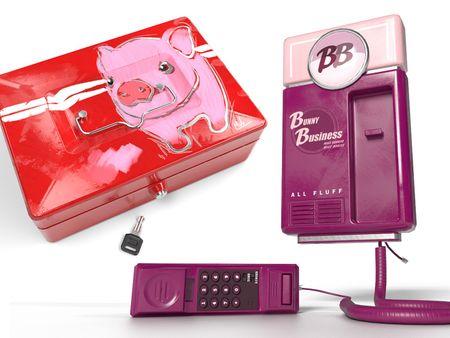 BB Telephone & Pig Cashbox