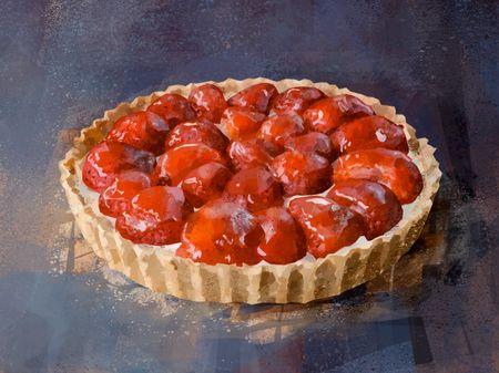 Strawberries pie