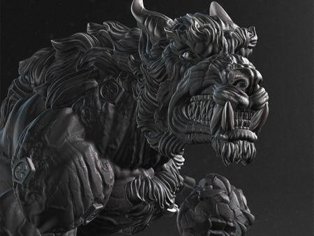 Cyber Werewolf / sculpt for print