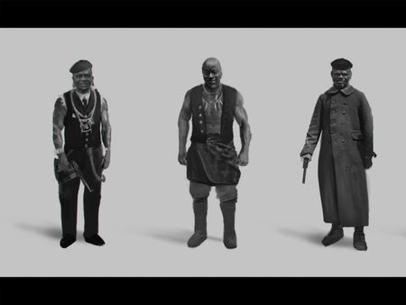 Native Africans Gang Concept
