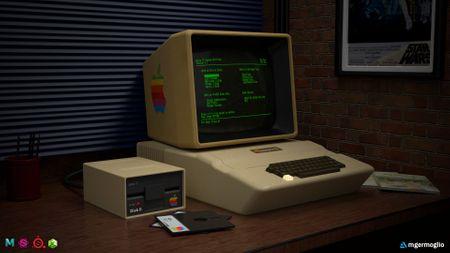 70's Office Desk - Apple II
