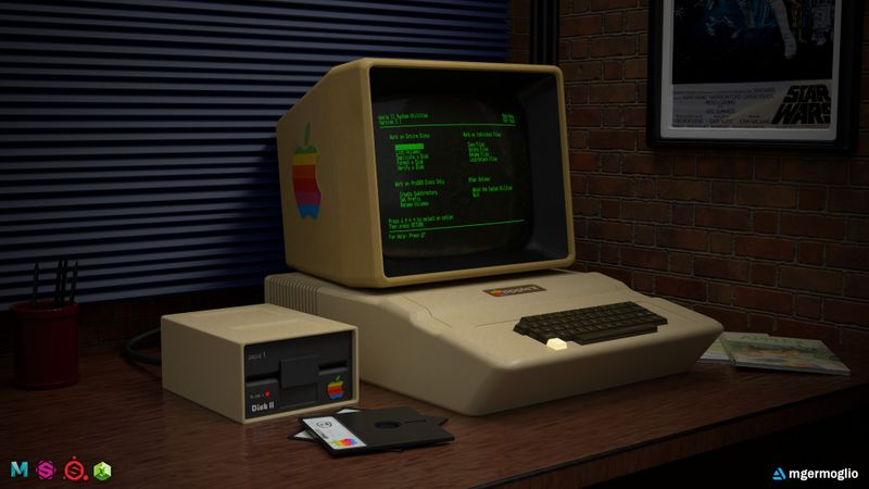 70's Office Desk - Apple II