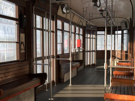 Milan Tram Interior Environment Modelling