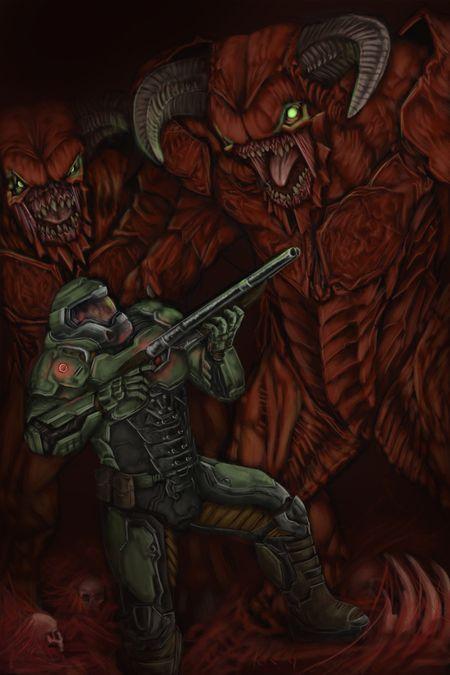 Doom Slayer VS Barons