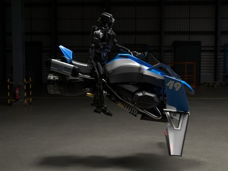 The first Hoverbike for Robots