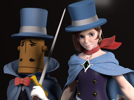 Trucy Wright and The Amazing Mr.Hat Fanart