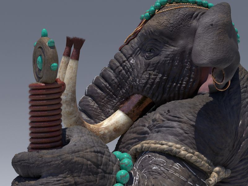 Loxodon and Human bust