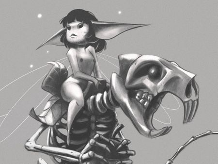 Dark fairy taming the death