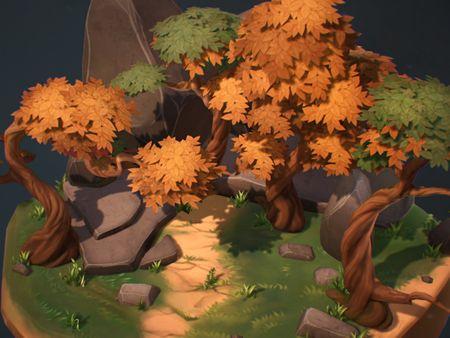 Stylized Forest Path Diorama