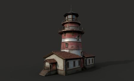 Lighthouse Game Asset