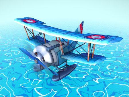 Sikorski S-16 stylized plane