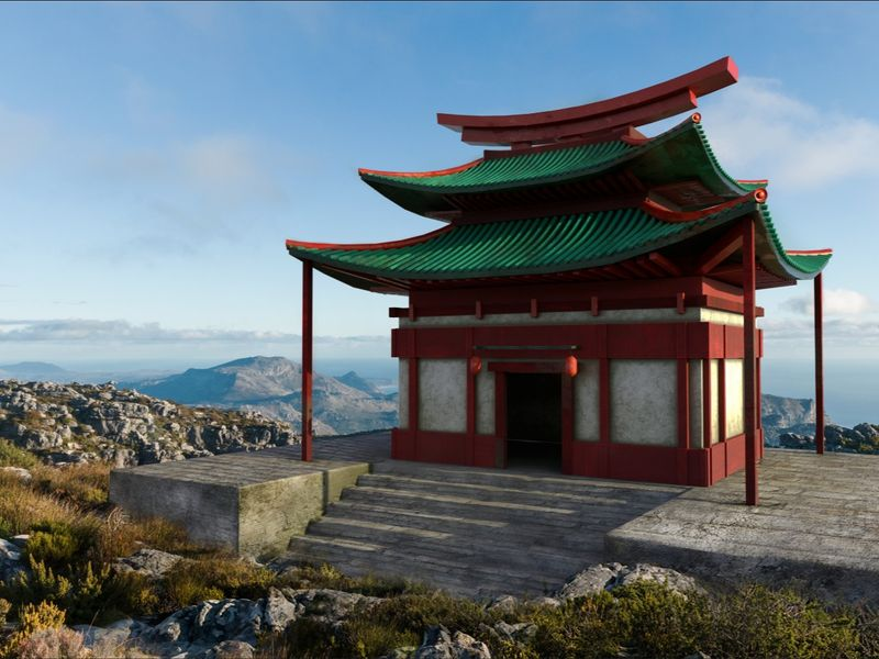 3D VFX - Japanese Shrine