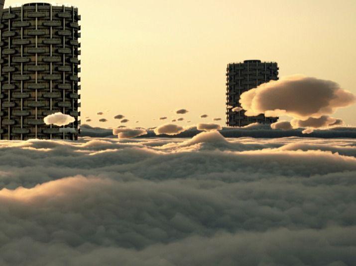 COVID 19 FUTURE CONCEPT - CITY IN THE SKY