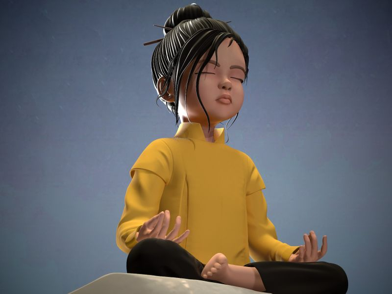 Young monk (practice)