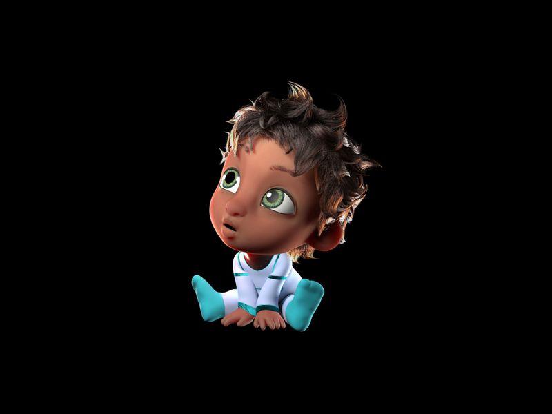 "Baby for Short Animated Movie ""Supa Nurse"