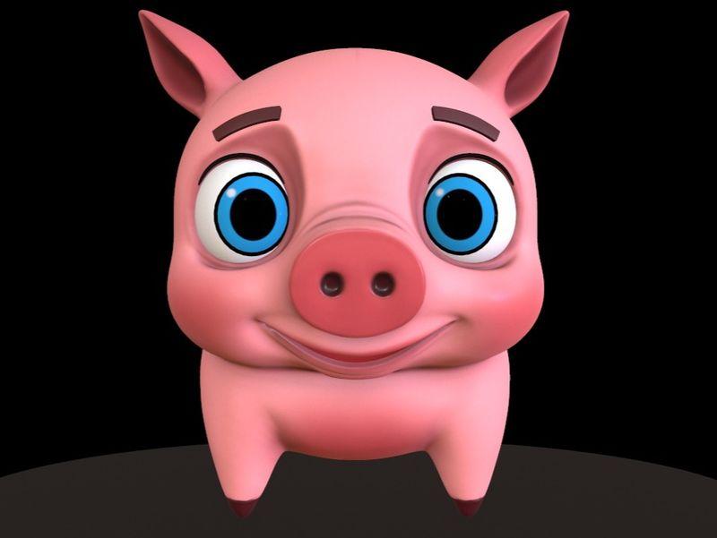 Stylized Pig