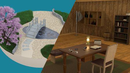 An Island + A Wild West Room