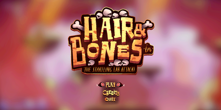 Hair&Bones game art & UI