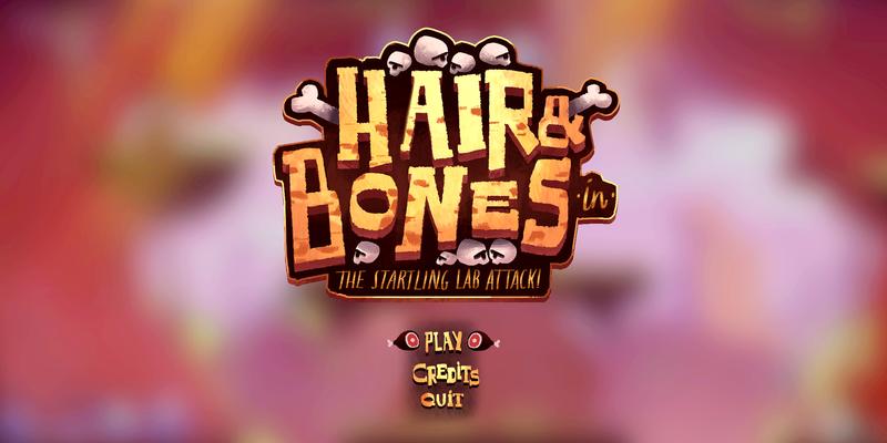 Hair&Bones game art & UI