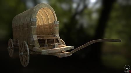 Medieval Transport wagon