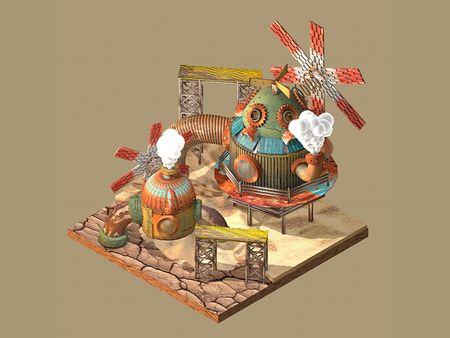 3D Steampunk Inspired Diorama
