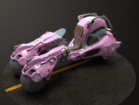 Kitty Nitro - Sci-Fi Motorcycle
