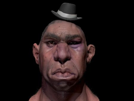 stylized cartoon Character Head