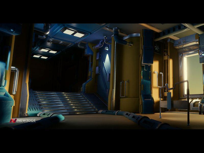 Sci-fi corridor - UE4