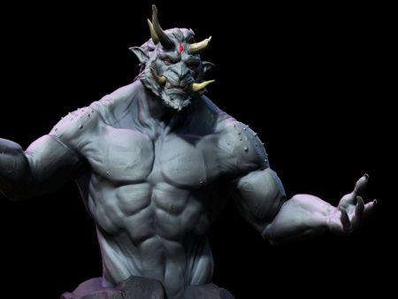 Oni Monster Bust