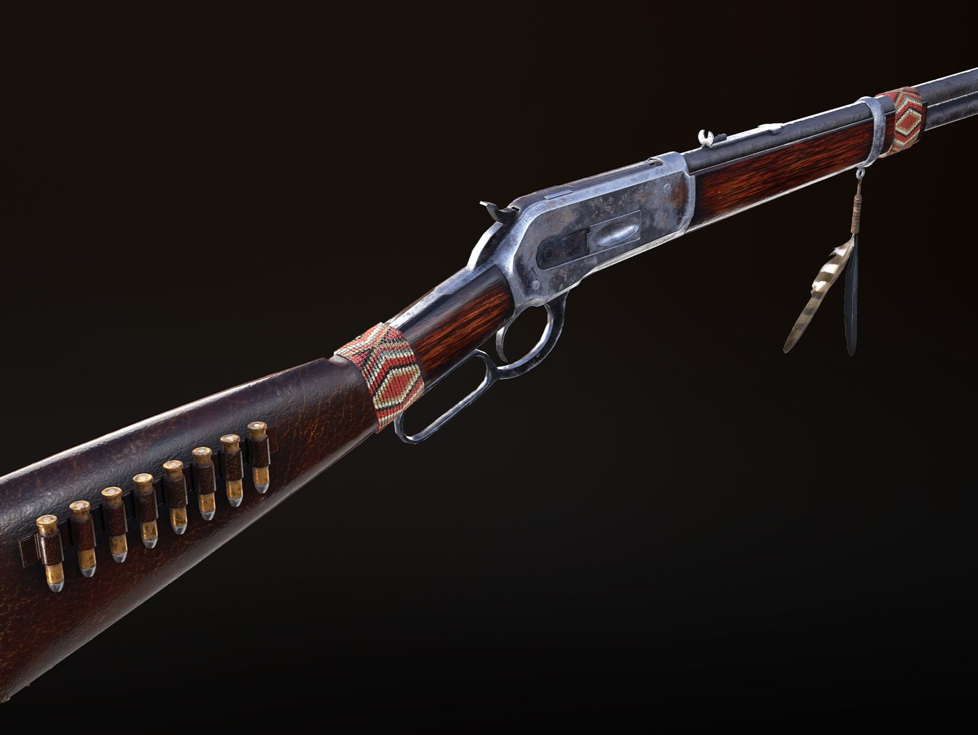 Navajo Themed Winchester