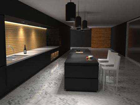 Modern Kitchen (Day/ Night)