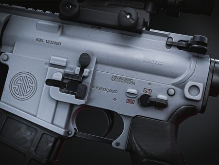 "Arctic - White SIG 516 with ""SOPMOD"" Accessories"