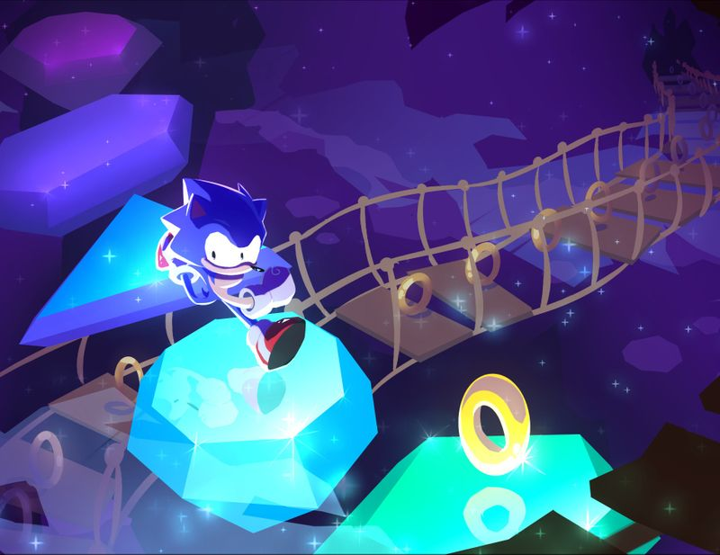 FANART: Sonic in Crystal Cave