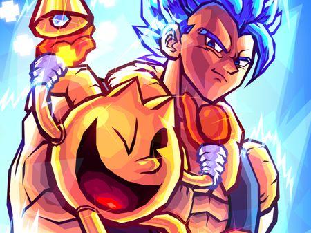 FANART: Gogeta and Pacman