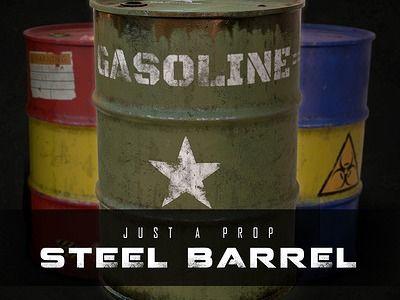 Steel Barrel - Game Prop