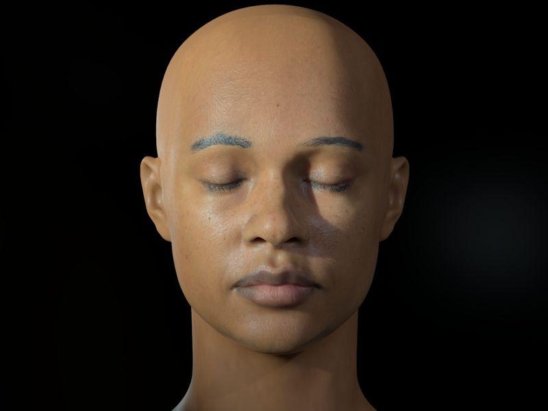 Evie - Sci Fi Character Head Sculpt