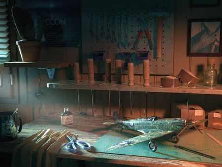 Ralph McQuarrie's studio, Childhood passions.