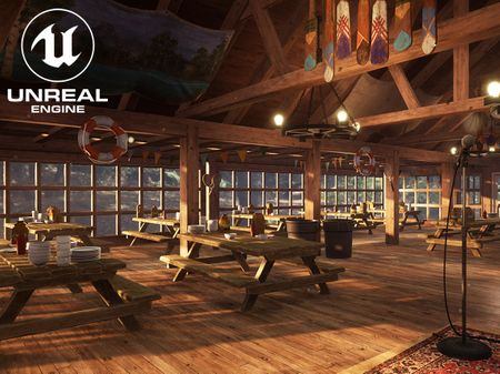 Summer Camp Dining Hall (UE4)