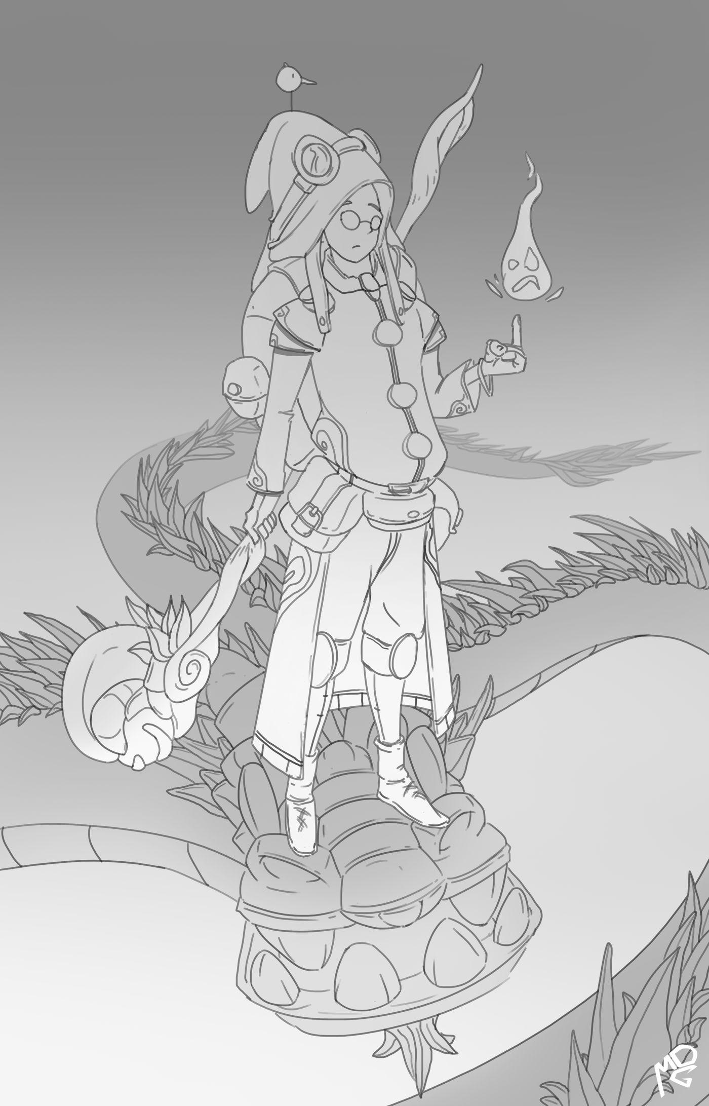 Dragon Rider Sketch Nicomdg
