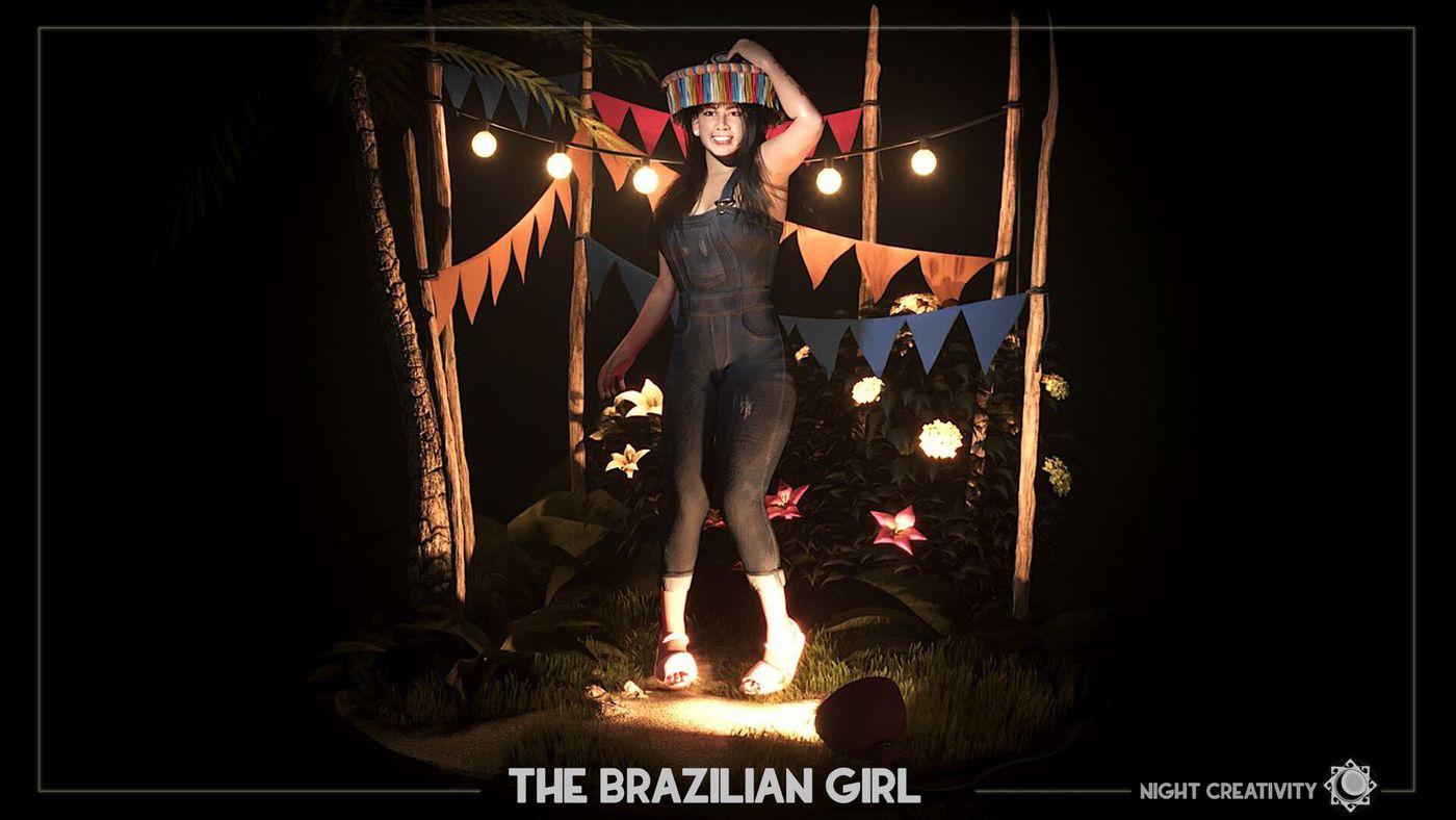Brazilian Girl from a Festival