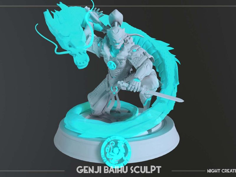 Overwatch Genji Baihu Sculpt for 3D printing