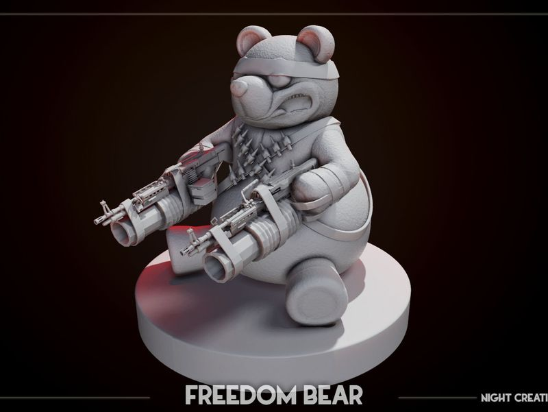 Freedom Bear from deadrising for 3D printing