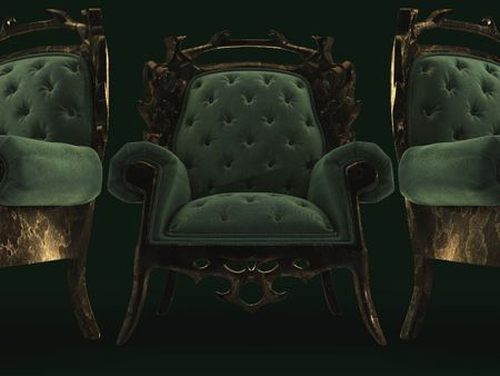 Velvet rusted chair
