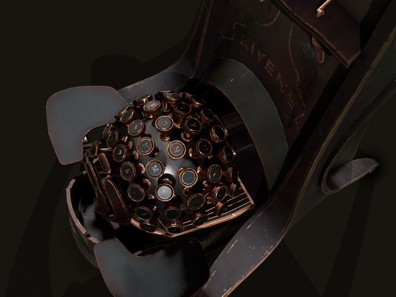 Dishonored 2: Typewriter Prop Fan Art