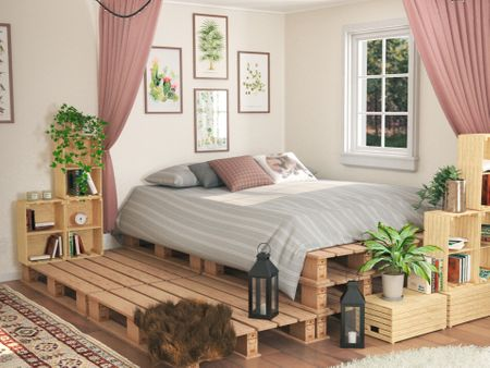 Pallet Bedroom Decor